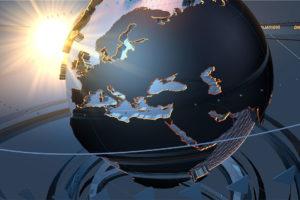 Place nette dans l'espace New space Innovation Tech Start-up Espace